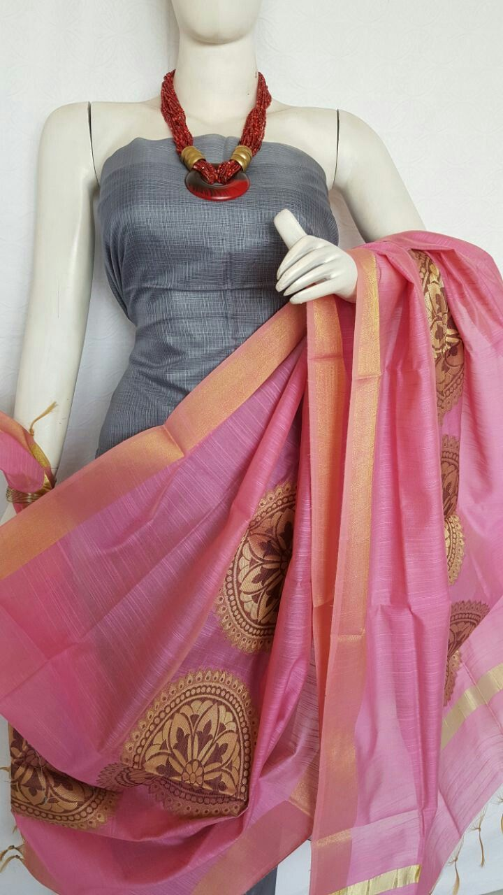 5ac251bd74 New arrivals of pure Kota Silk unstitiched dress materials with fine  quality of Banarasi handloom dupattas . Kurta- Pure Kota Silk.