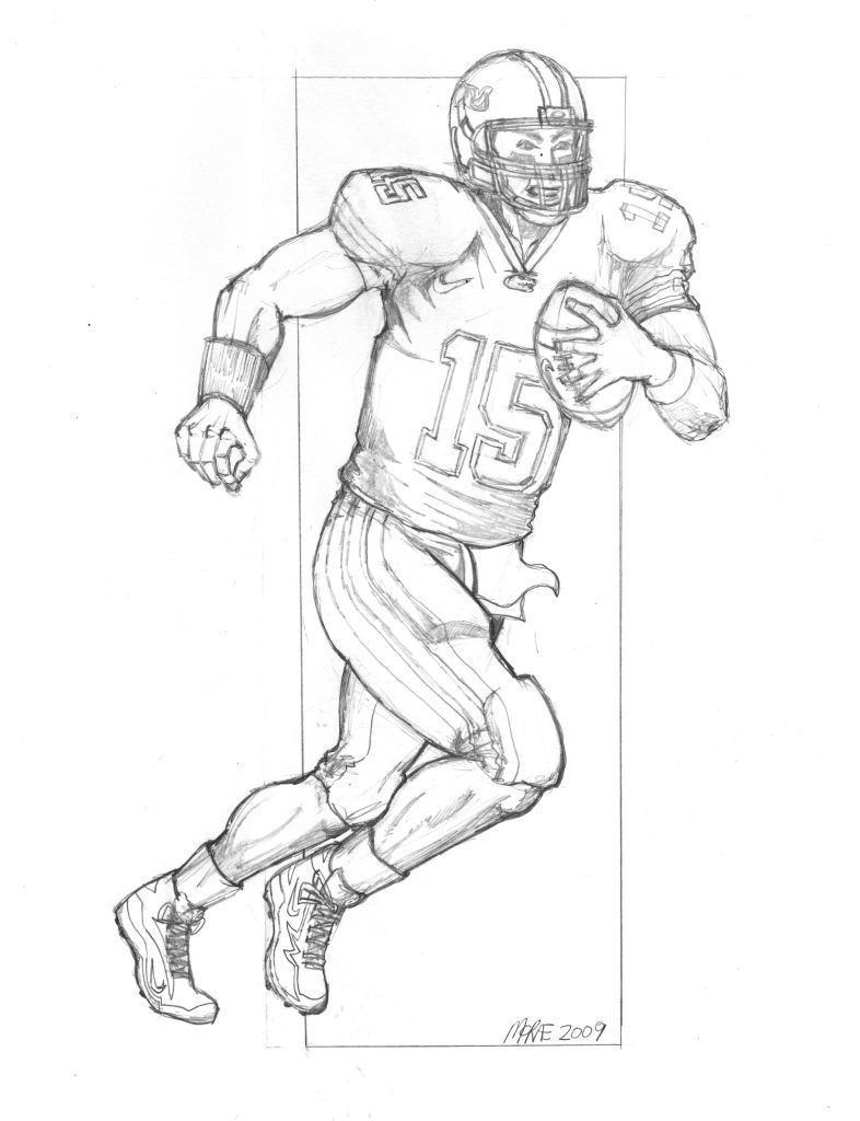 Saints Football Coloring Pages Tim Tebow Player Of The Week