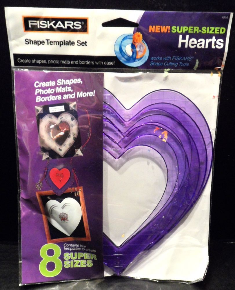 Scrapbooking Templates Pack 4 Super Size Hearts Paper crafting 4914 ...