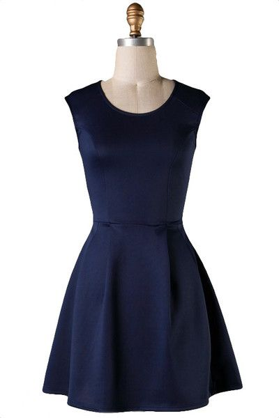 One Sweet Day Fit & Flare Dress - Navy