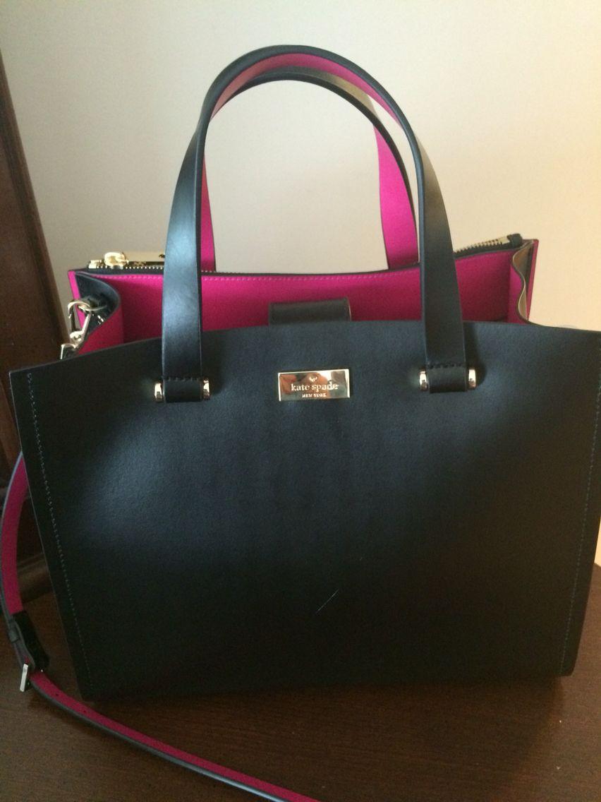 2747bda3dc11 Black and pink kate spade arbour hill kyra bag