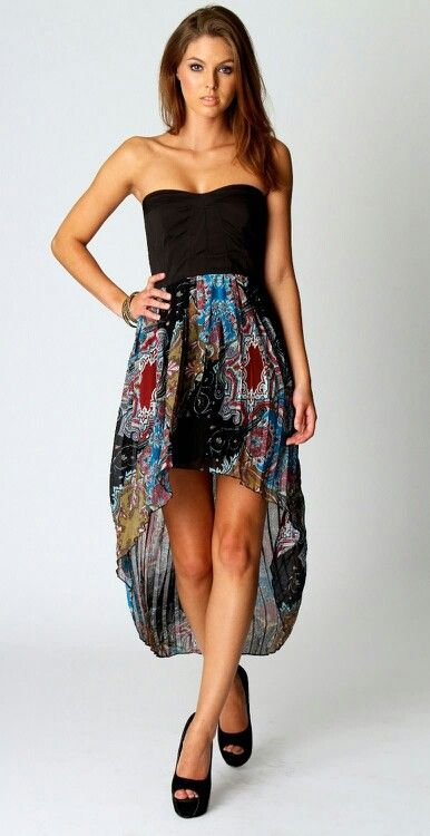High to low strapless dress - not usually a fan of hi-lo dresses, but this one is cute.