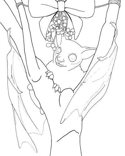 mistletoe fruit bat adult coloring page youve seen me color it