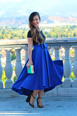 High low midi skirt – Fashionable skirts 2017 photo blog