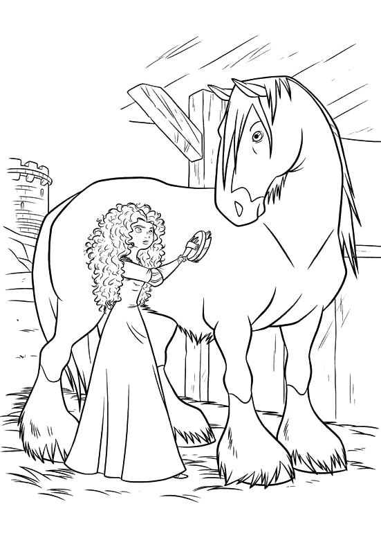 Disney Horse Coloring Pages Images
