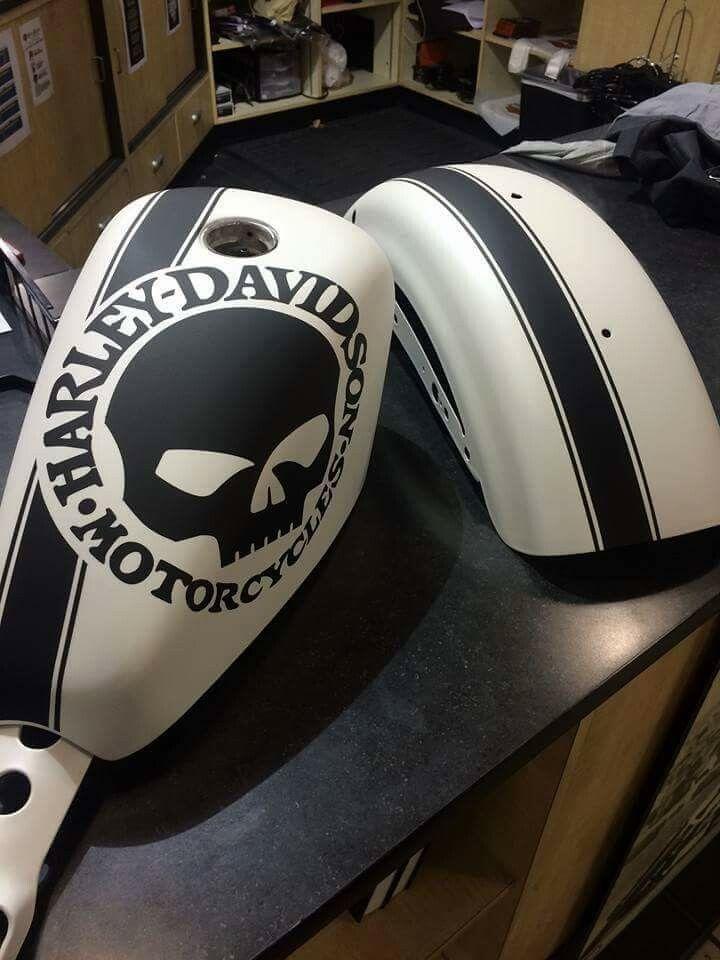 SILVER 2 ADESIVI DECAL STICKERS GRAPHIC HARLEY DAVIDSON DA SERBATOIO MOTO CUSTOM