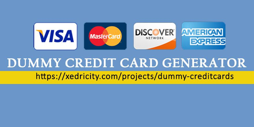 How to generate fake credit card number easily generate