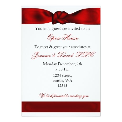 Red Elegant Corporate Party Invitation Zazzle Com Invitation