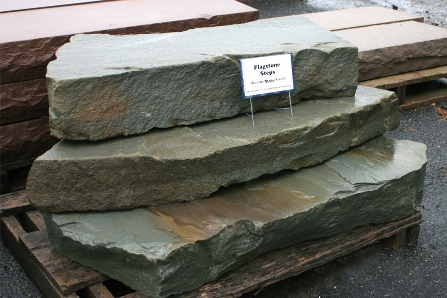 Flagstone natural stone steps from wicki stone new jersey for Pictures of stone steps