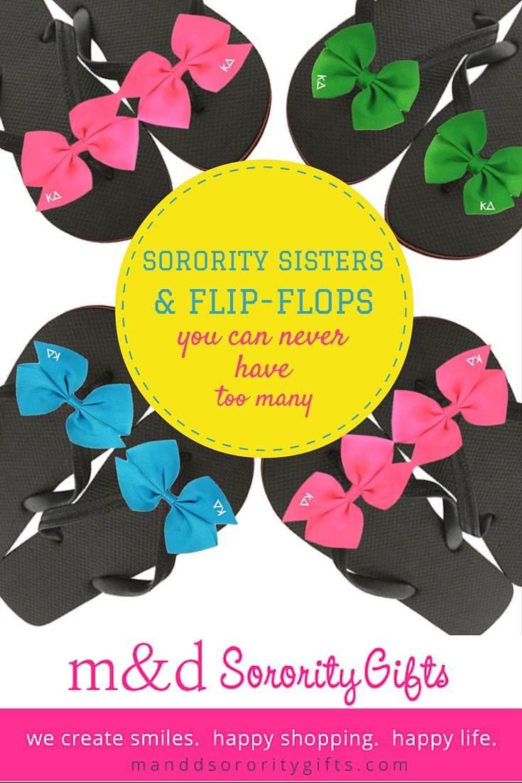 New Kappa Delta flip flops are only $15.18 for a limited time! Comes in many…
