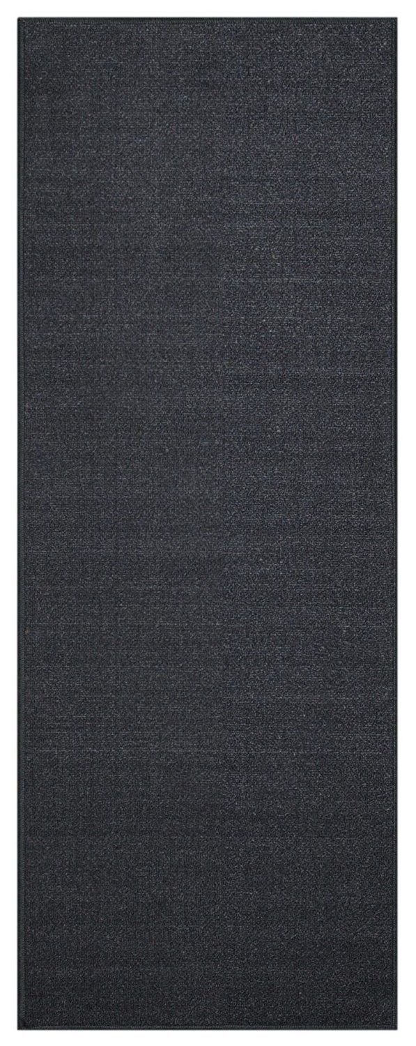 Hallway rug ideas  Custom Size Runner Black Solid Single Color Plain NonSlip NonSkid