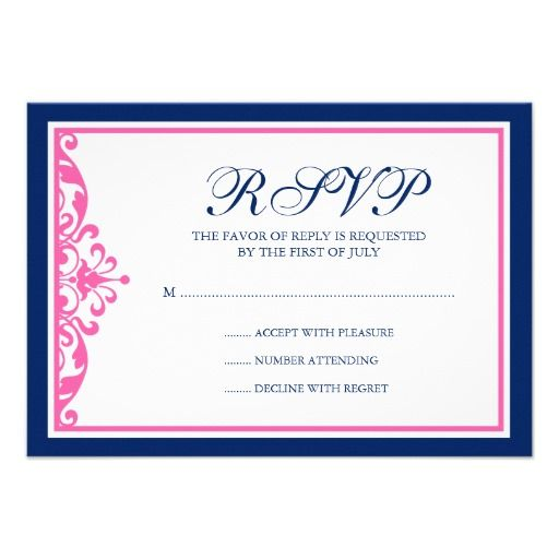 Discount DealsNavy Blue and Pink Flourish Response Cardyou will get best price offer lowest prices or diccount coupone