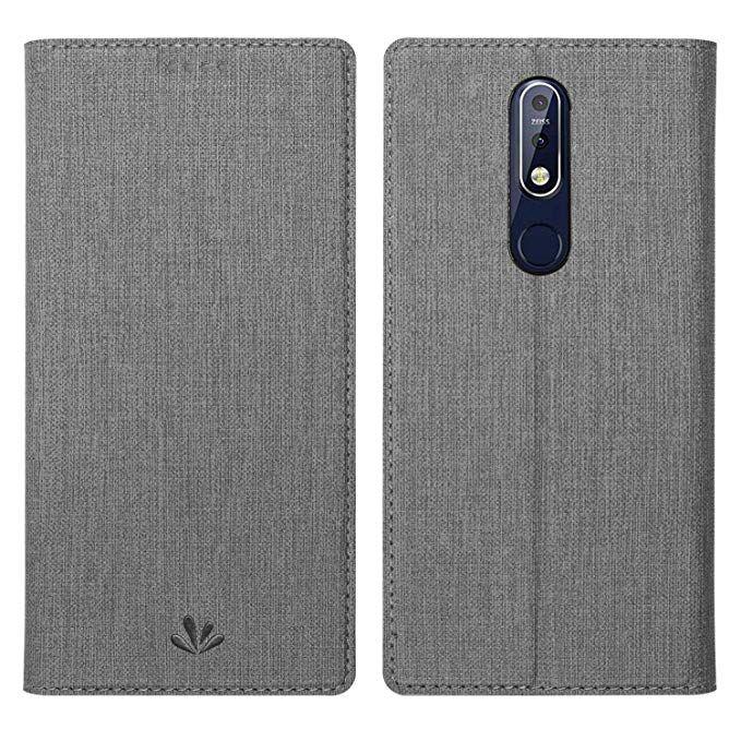 Simicoo Nokia 6.1 2018 Model Flip PU Leather Slim Fit case