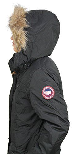 Canada Weather Gear Womens Faux Down Goose Jacket Coat Black Size S Check This Awesome Product By Womens Jackets Casual Autumn Jacket Women Parka Coat Women
