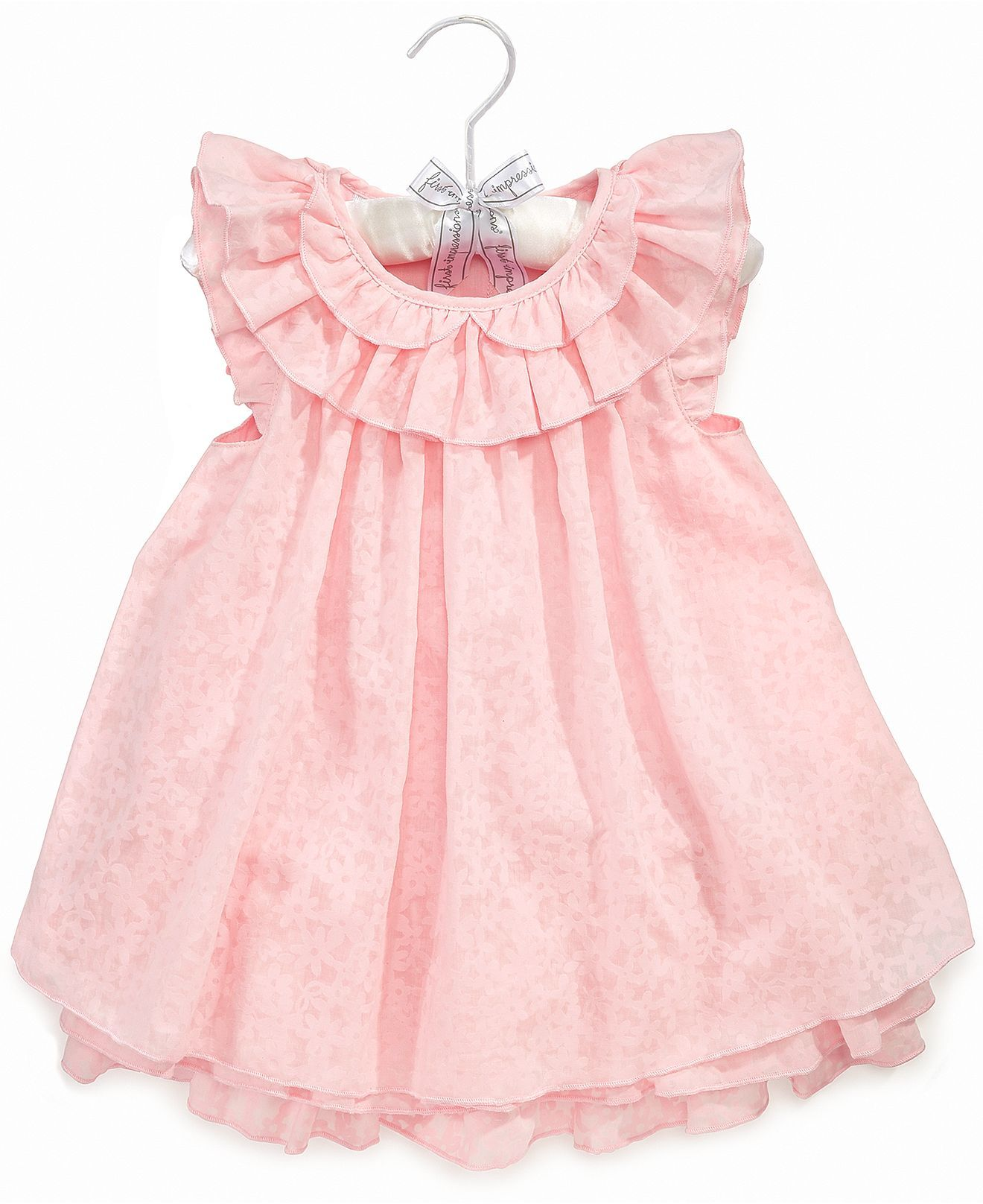 First Impressions Baby Dress Baby Girls Burn Out Dress Kids Baby Girl 0 24 Months Macy S Kids Dress Girl Outfits Baby Girl Dress