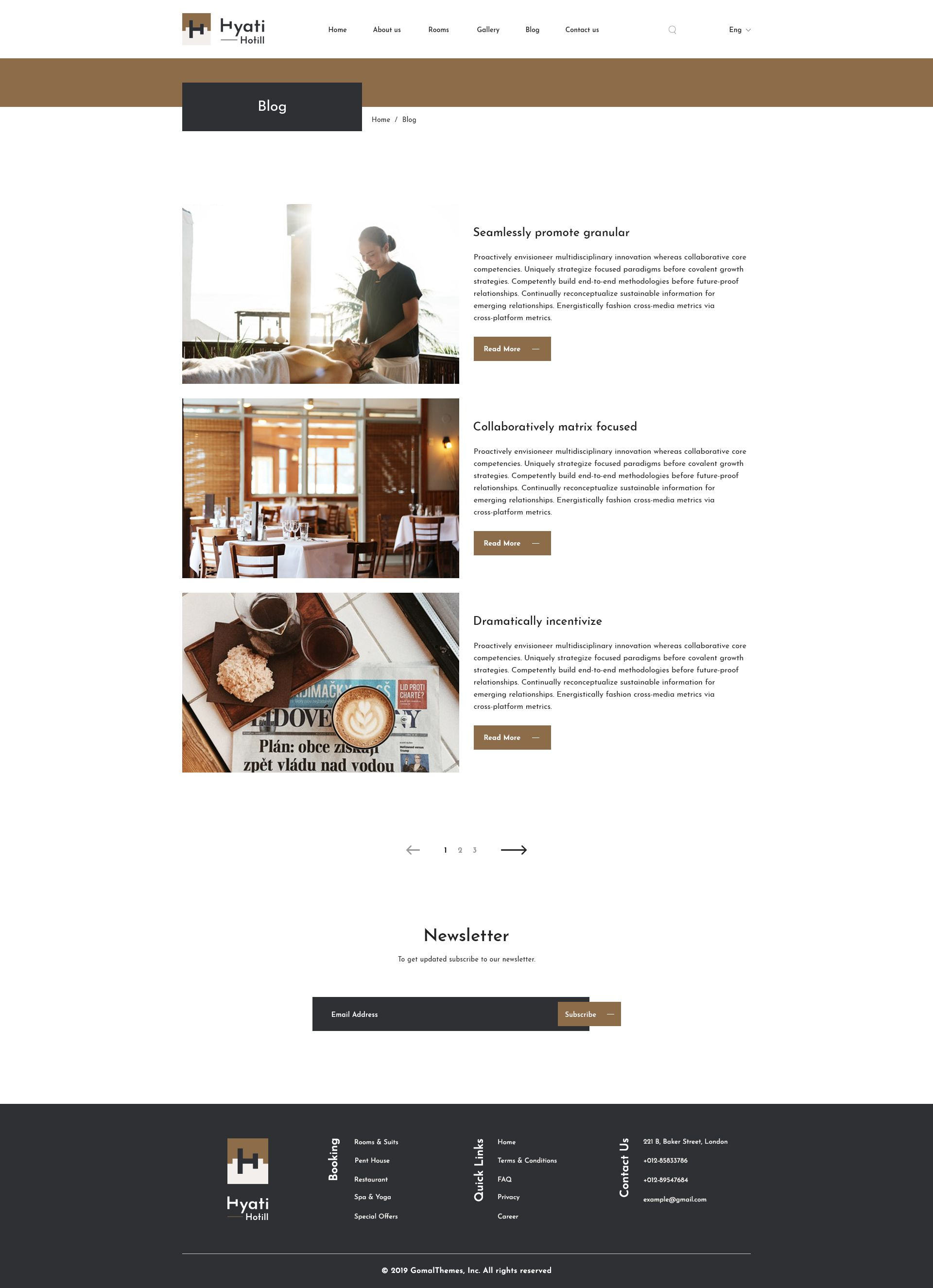 Hyati Hotel, Bed and Breakfast PSD Template (With images