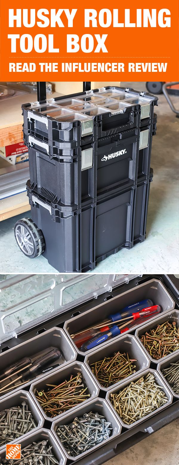 Husky 22 In Connect Rolling System Tool Box Review By Jen Woodhouse Tool Box Plastic Tool Box Rolling Tool Box