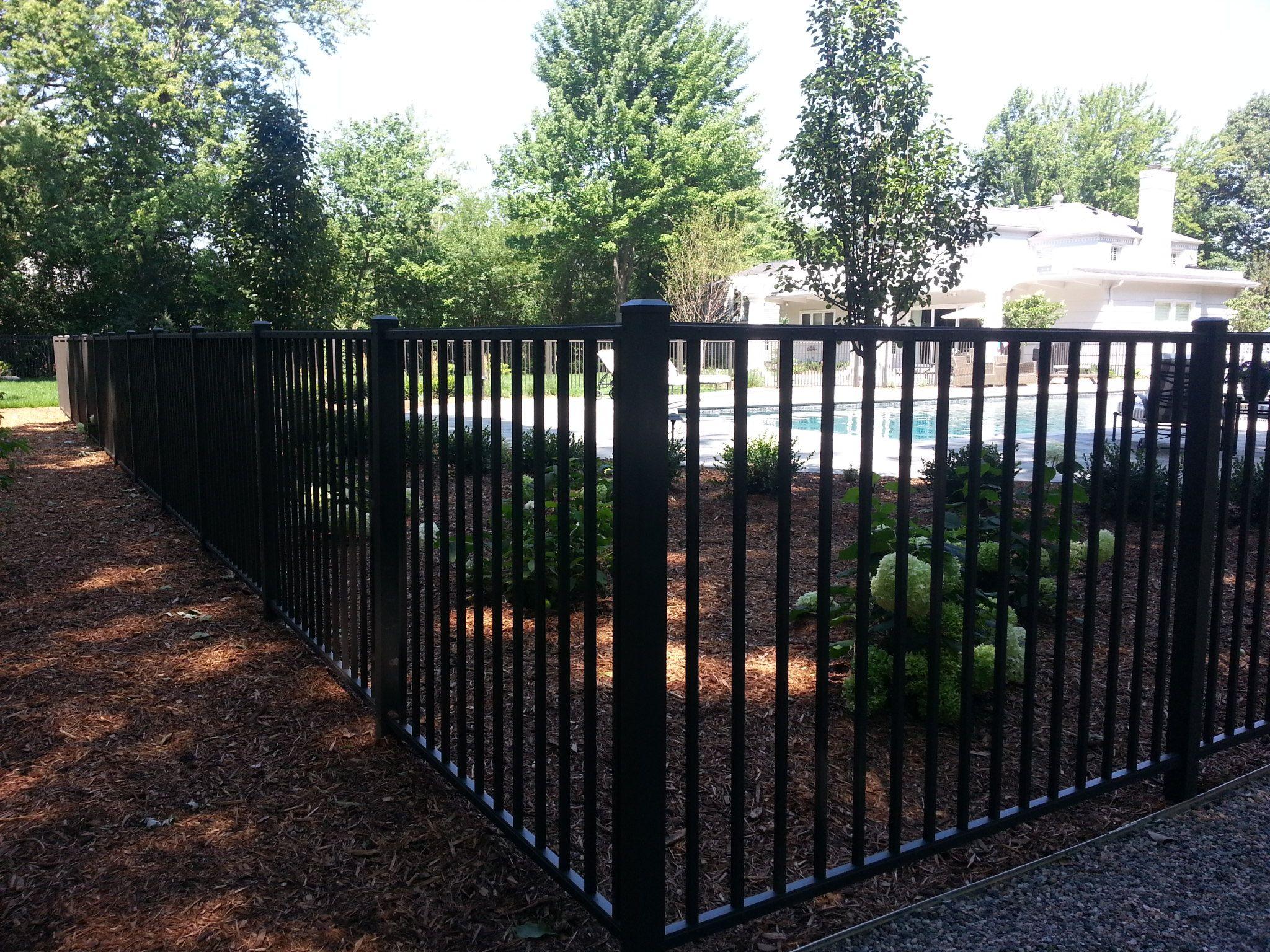 4 High Black Ornamental Aluminum Uaf 200 2 Rail Fence