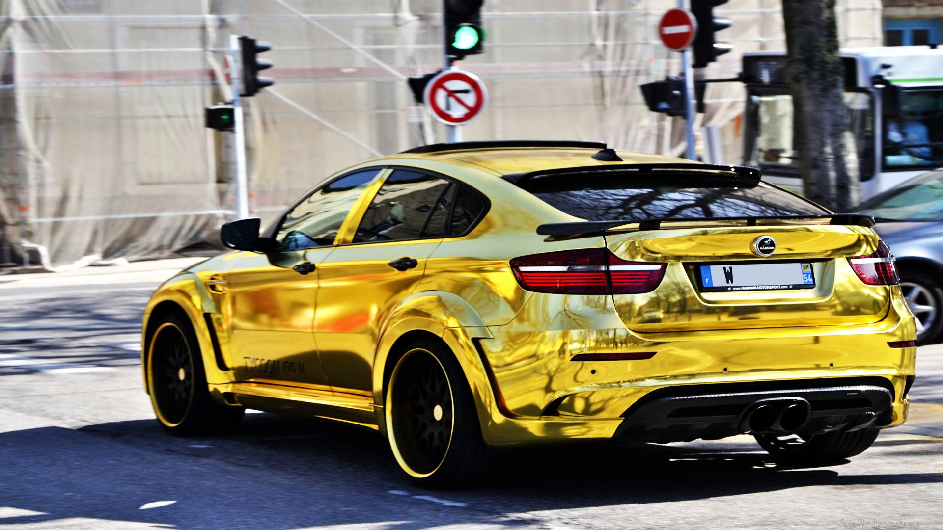 Gold Car Wallpapers: Gold BMW X6M Custom Hamann Supreme Edition #1