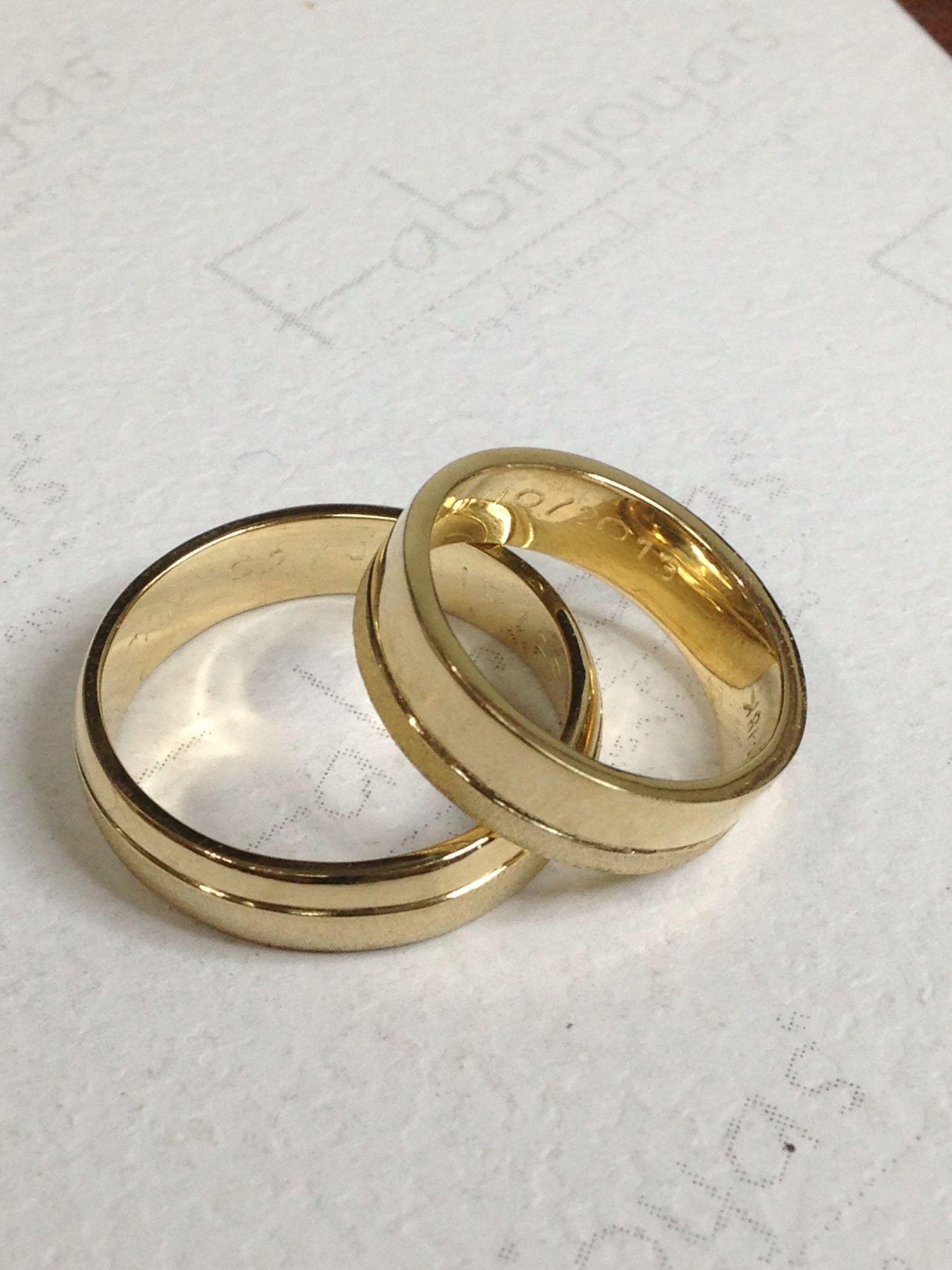 110c58d884c9 Argollas planas oro amarillo 18k.