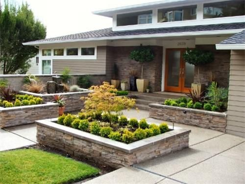 17 best images about front yard courtyard ideas on pinterest planters concrete pavers and landscapes - Front Lawn Design Ideas