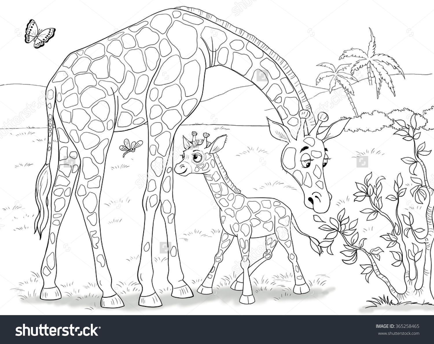 African Savanna Coloring Pages Five Point Star Coloring Pages By - African-savanna-coloring-pages