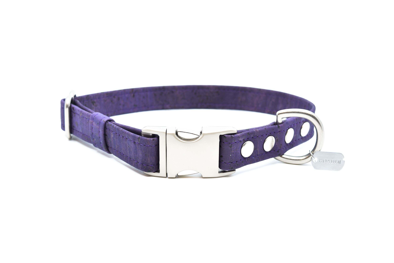Violet Cork Dog Collar Collars Eco Friendly Fashion Leather