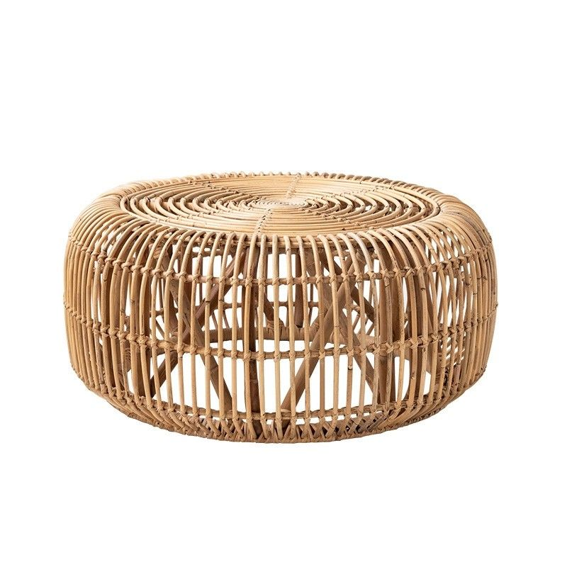Cottage innovative 34 round woven rattan accent coffee