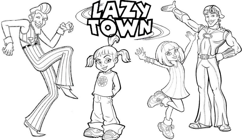 Best Lazy Town Coloring Page For Children Lazy Town Coloring Pages Fathers Day Coloring Page