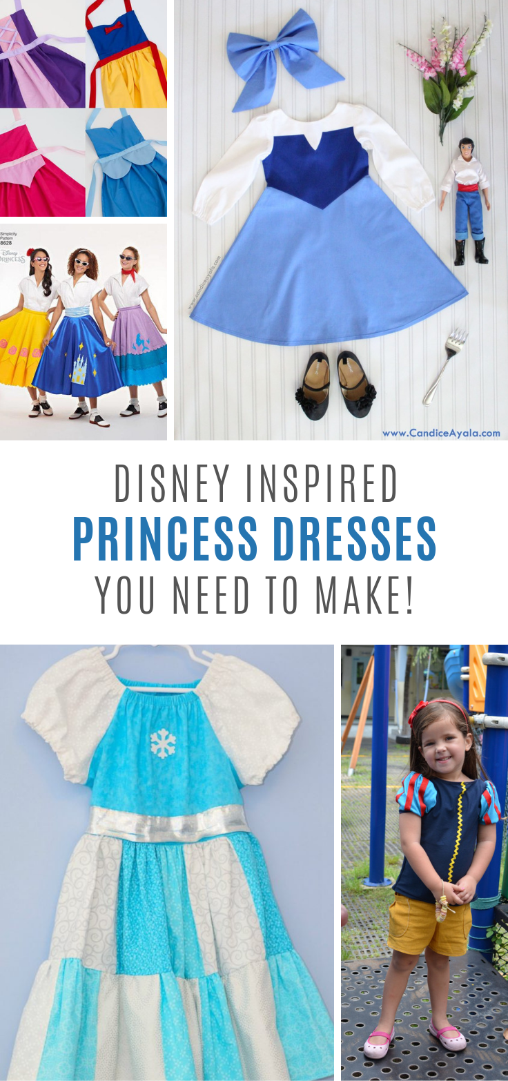 9 DIY Disney Princess Dresses You Can Sew for Your Daughter #disneyprincess