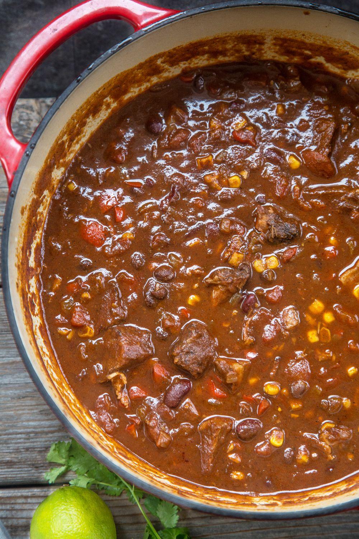 Smoked Brisket Chili Recipe And Video Vindulge Recipe Smoked Brisket Chili Recipe Smoked Brisket Chili Brisket Chili Recipe