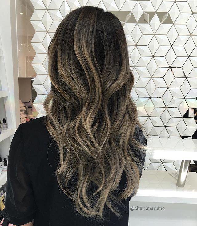 Smokey Ash Blonde Brunette Balayage Hair Ash Blonde Balayage Hair