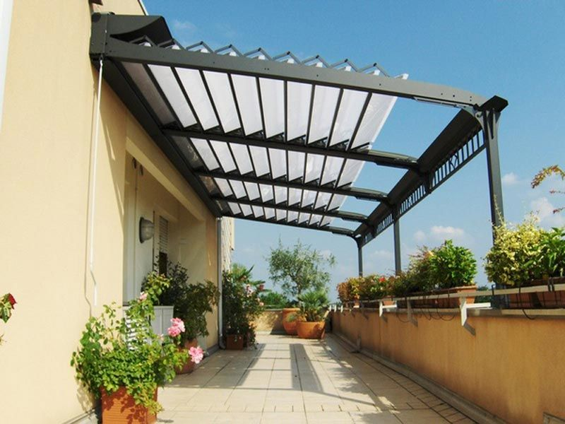 Delicieux Aluminum Pergola With Retractable Roof More