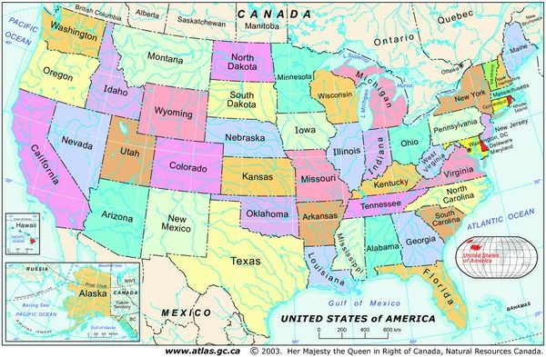 Map Of United States With Names Including Canada Reference Maps | Natural Resources Canada | United states map