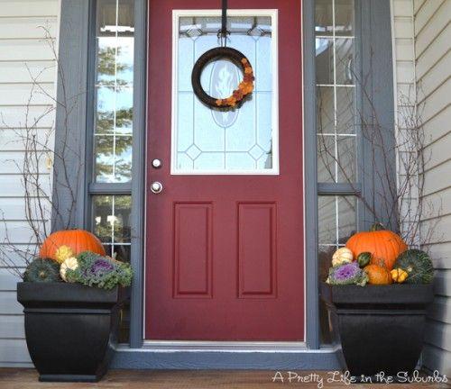 Front Porch Fall Decor #autumn #fall porch