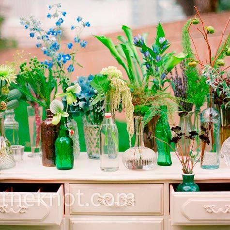 love the bottle and wild flower mix