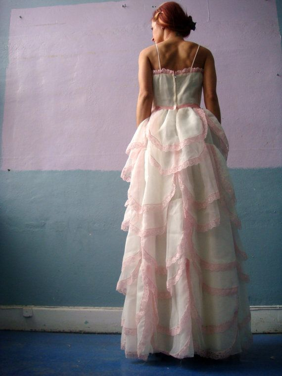 VTG Ball Gown / Cinderella Petal Dress / Pink by HouseOfRenata, $250.00