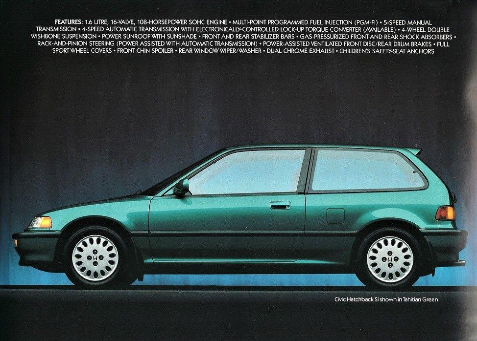 Honda Civic Hatchback 1989 1991 ホンダ