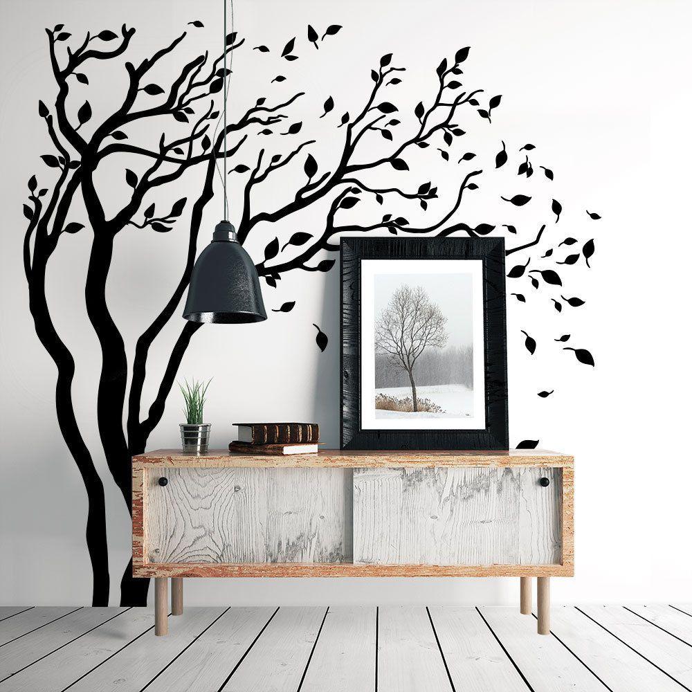 01388 wall stickers adesivi murali parete decoro muro piante alberi 160x170 cm idee per la - Idee decoro casa ...