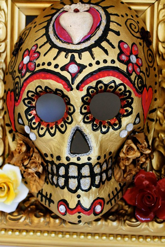 Day of the Dead Mexican celebration Sugar skull mask / Day of the ...
