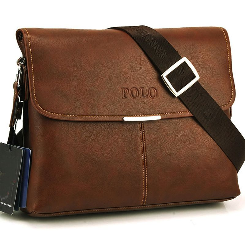 Polo 2014 New men messenger bag genuine leather bags for men business  formal briefcase high quality morer  143 b7ca0d1e5ca08