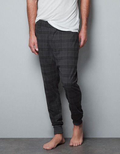 acfcfa6b2d CIRCULAR KNIT CHECKED TROUSERS - Homewear - Man - ZARA Turkey |