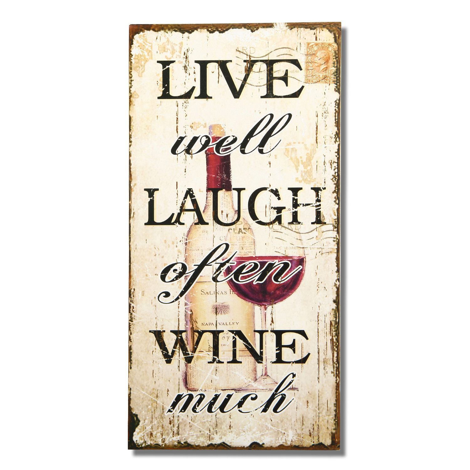 """Found it at Wayfair - """"Live Well Laugh Often Wine Much"""" Wall Decor"""