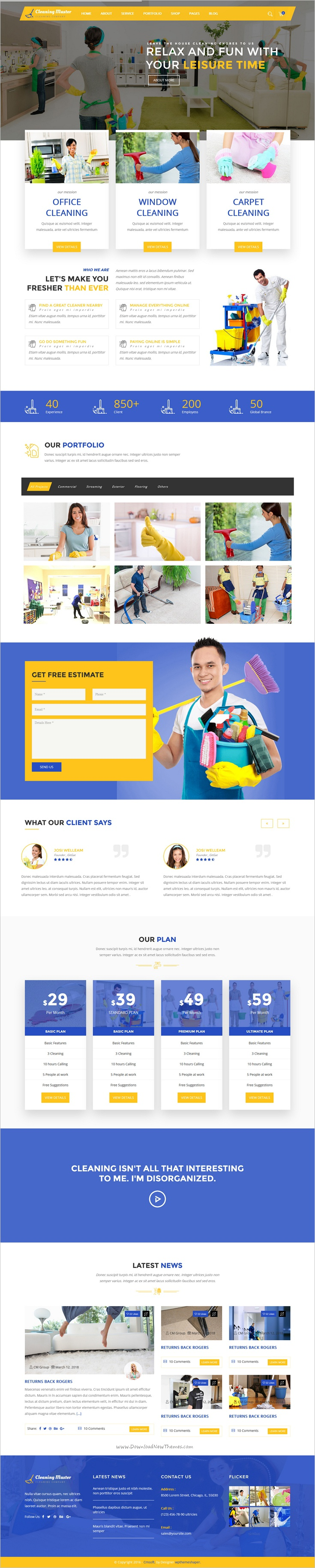 Clening master cleaning company html5 template pinterest clening master is beautifully design responsive 3in1 html bootstrap template for cleaning service company website download now cheaphphosting Choice Image