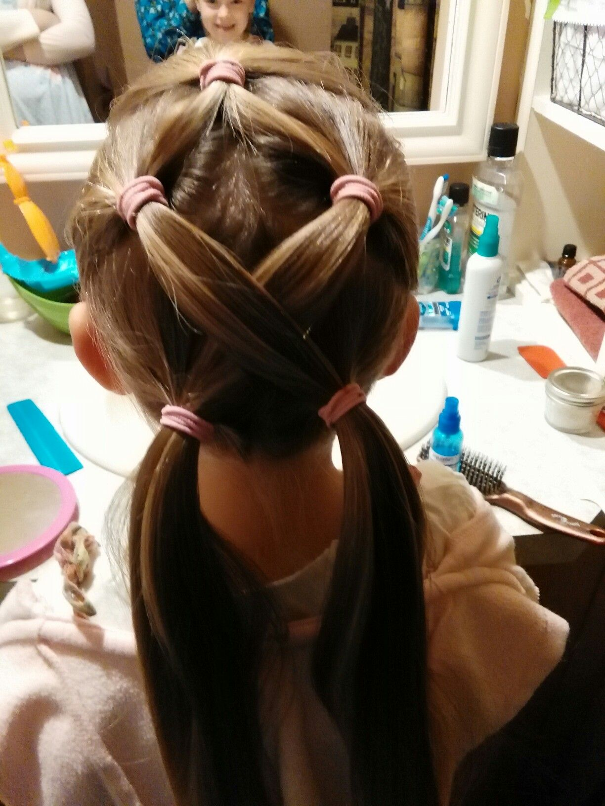 combined two hair styles and it was easy, cute an will stay