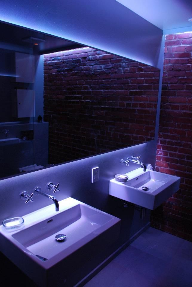 LED Hinterleuchtung eines Spiegels im Bad #led #lighting #light - led band badezimmer