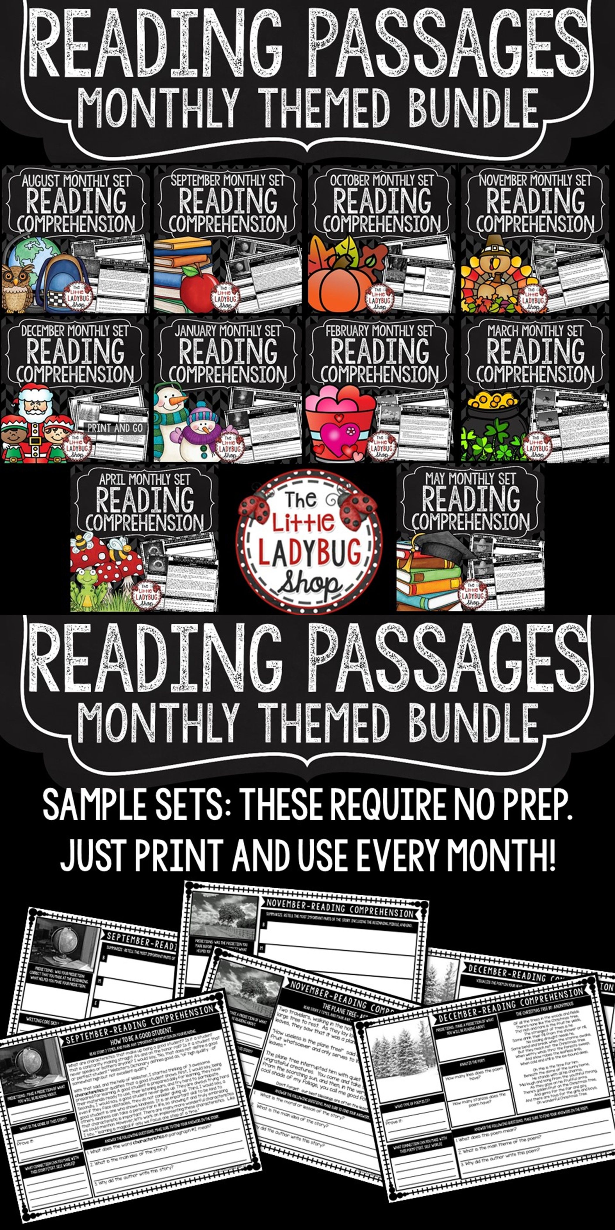 Close Reading Comprehension Passages And Questions 4th Grade 3rd Grade Bundle