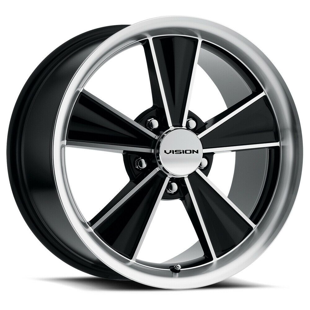 17 Vision Muscle V324 Dazzler Black Machined Wheel 17x10 5 5x4 5 28mm Classic Americanmuscle In 2020 Wheel Rims Wheel Chrome Wheels