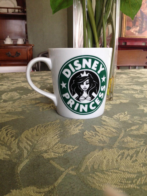 Disney Princess Starbucks Mug Mermaid mugs, Disney
