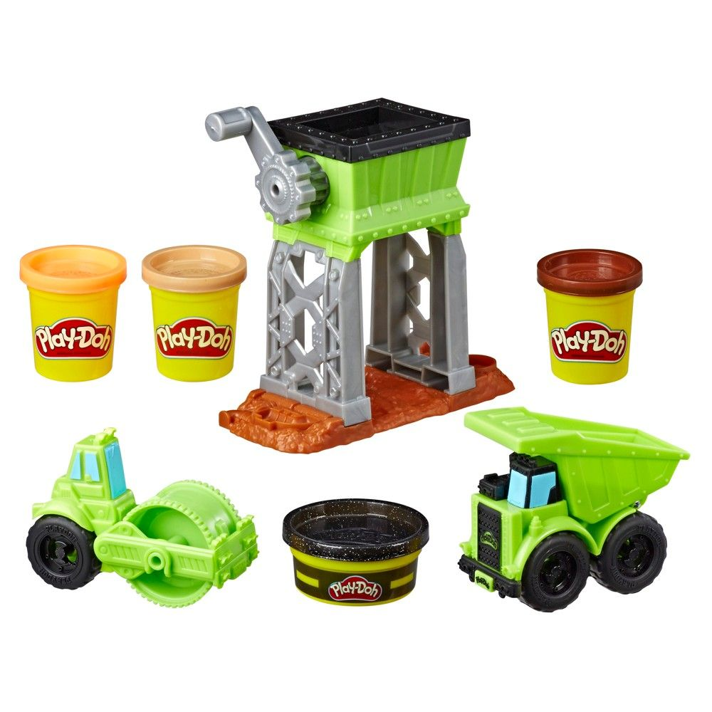 Play Doh Wheels Gravel Yard Construction Toy With Non Toxic